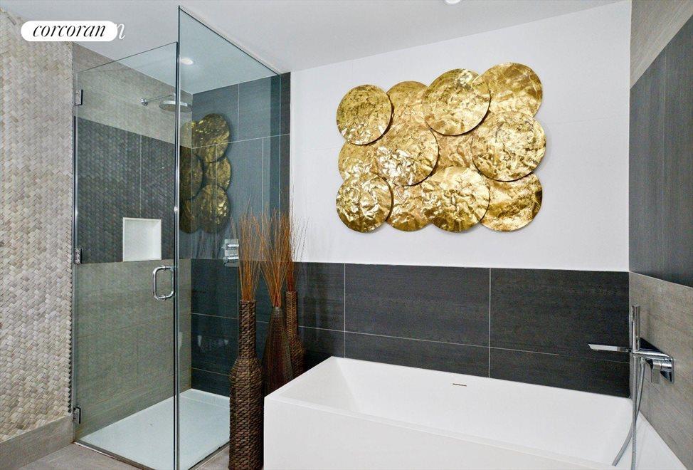 Deep Soaking Tub & Separate Shower