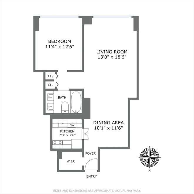 New York City Real Estate | View East 57th Street | Floorplan 1