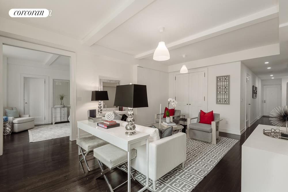 157 East 72nd Street, 9HI, Living Room with Southern Views over 72nd Street