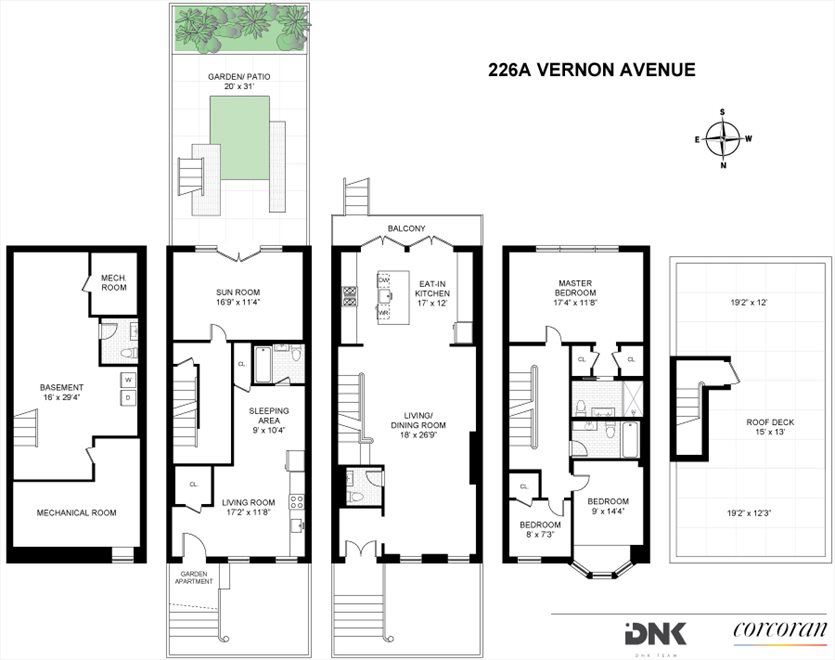 New York City Real Estate | View 226A Vernon Avenue | Floorplan