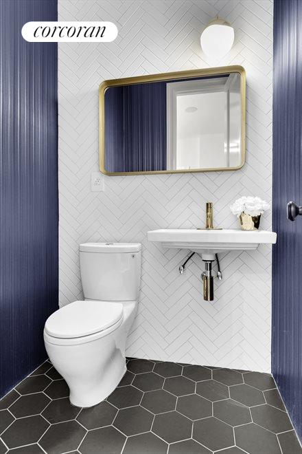 New York City Real Estate | View 226A Vernon Avenue | Parlor Powder Room