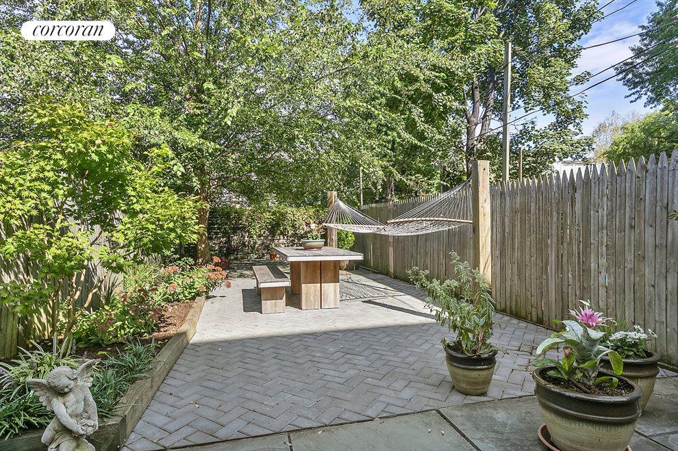 Huge garden & patio on 131 ft deep lot