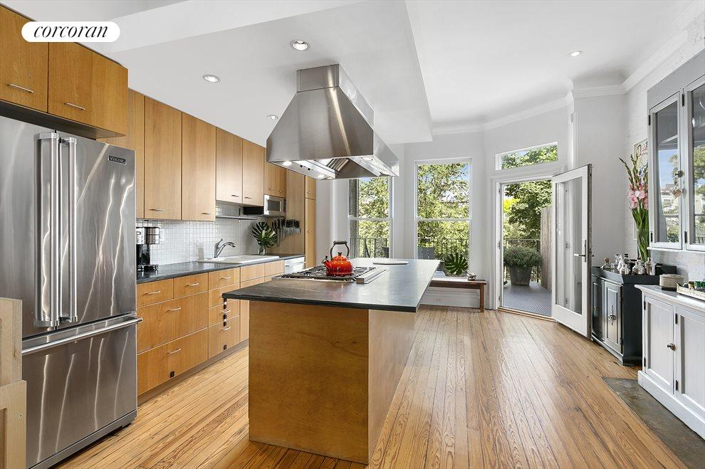 Modern kitchen with huge island and breakfast bar