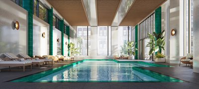 New York City Real Estate | View 11 Hoyt Street, #24F | Indoor salt water pool