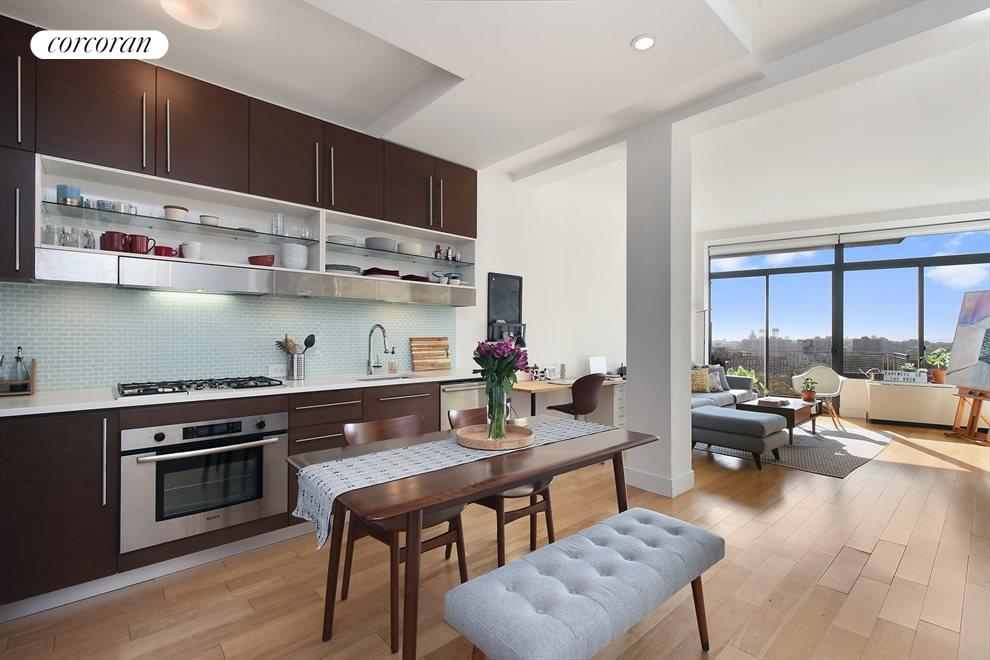 New York City Real Estate | View 96 Rockwell Place, #9A | Kitchen / Living Room