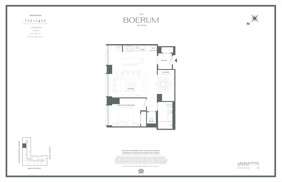 New York City Real Estate | View 265 State Street, #912 | Floorplan