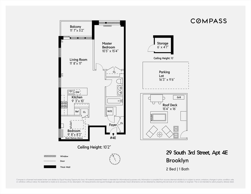 New York City Real Estate | View South 3rd Street | Floorplan