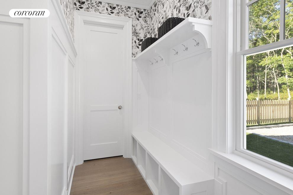 back hall with built-ins