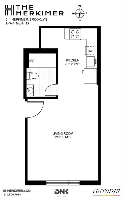 New York City Real Estate | View 511 Herkimer Street, #1A | Floorplan