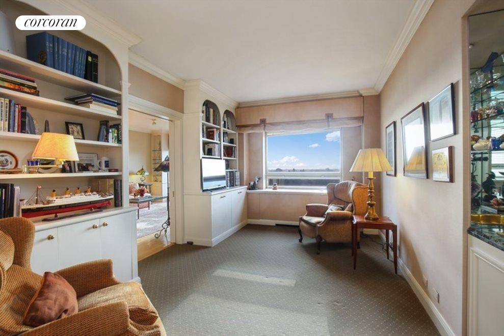New York City Real Estate | View 180 East End Avenue, #21E | Bedroom/Library