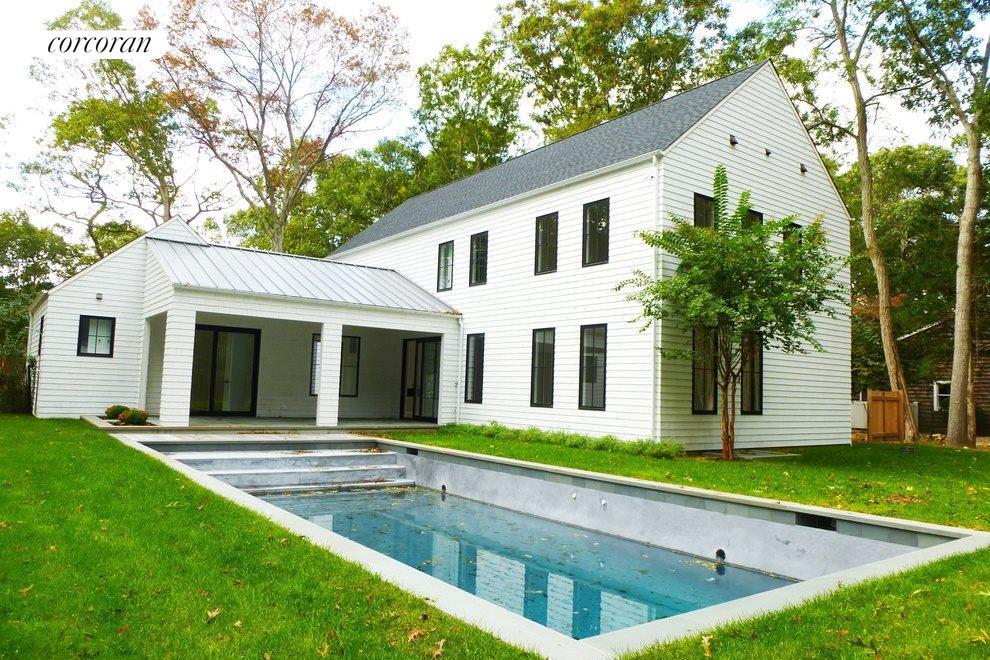 Back yard with gunite pool