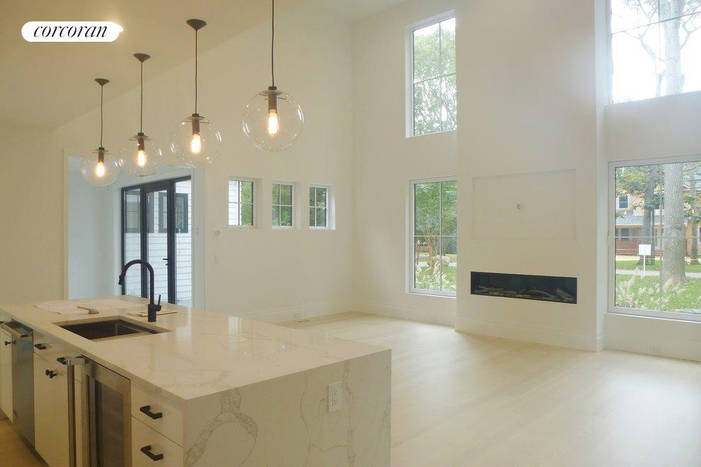High ceilings open living
