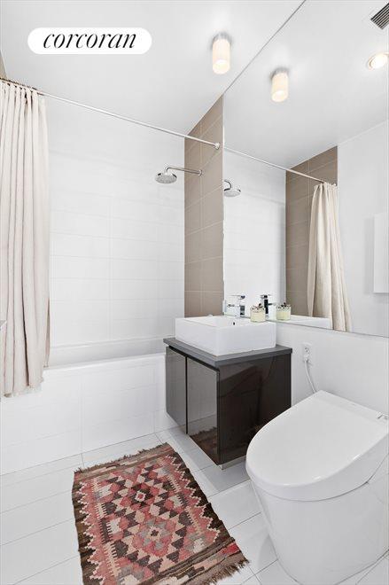 Radiant heated floors in the bathroom