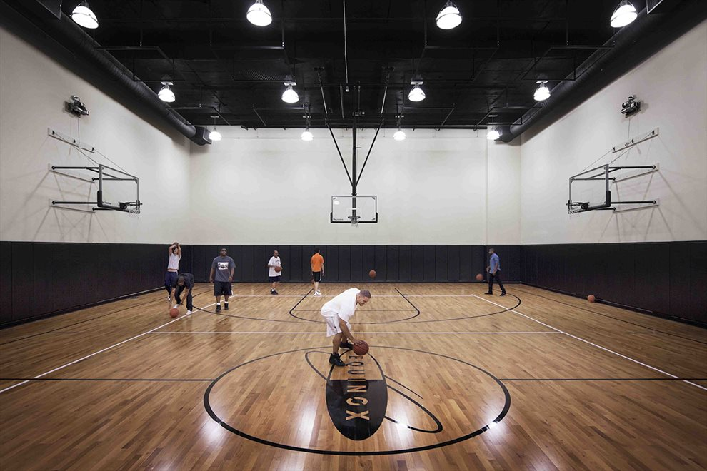 Regulation Full-size Basketball Court