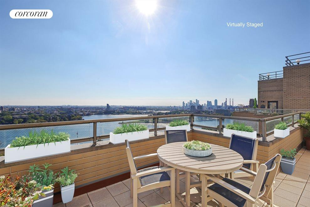 New York City Real Estate | View 180 East End Avenue, #PHG | 300 square feet of private terrace
