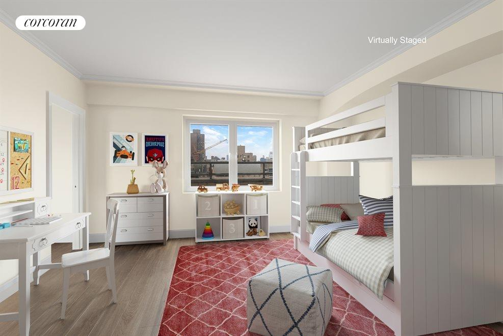 New York City Real Estate | View 180 East End Avenue, #PHG | Virtually Staged Bedroom