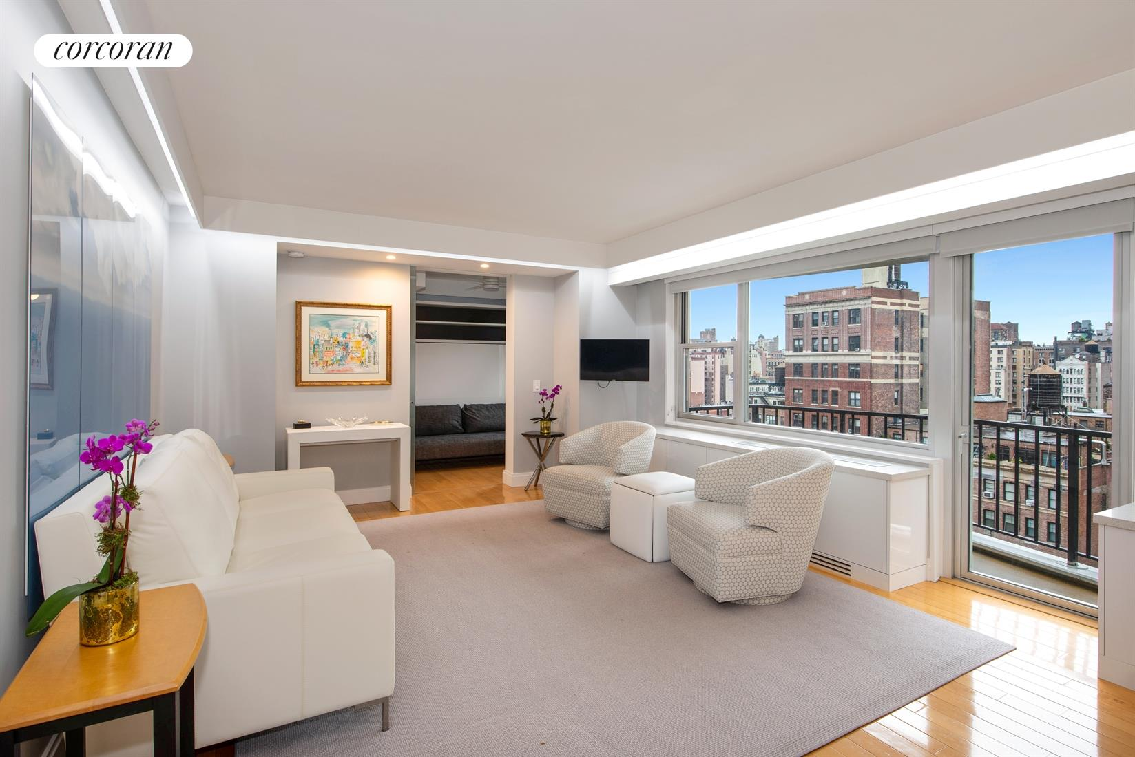80 Central Park West, 15G, Living Room