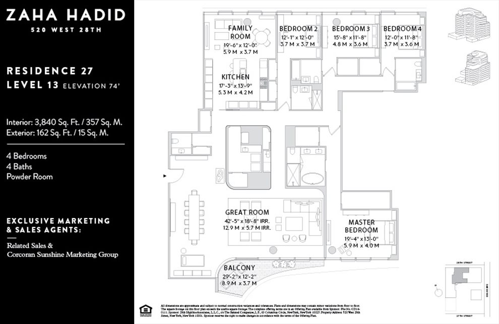 New York City Real Estate | View 520 West 28th Street, #27 | Floorplan