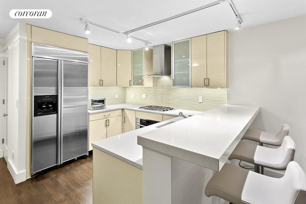 Chef's kitchen with Ceasar stone counter tops