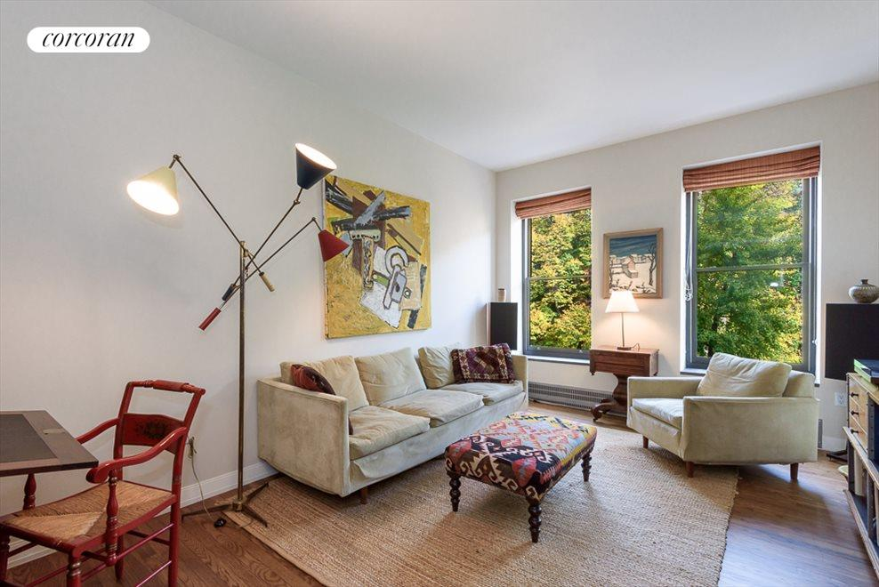 Living Room with Views of Seminary Gardens