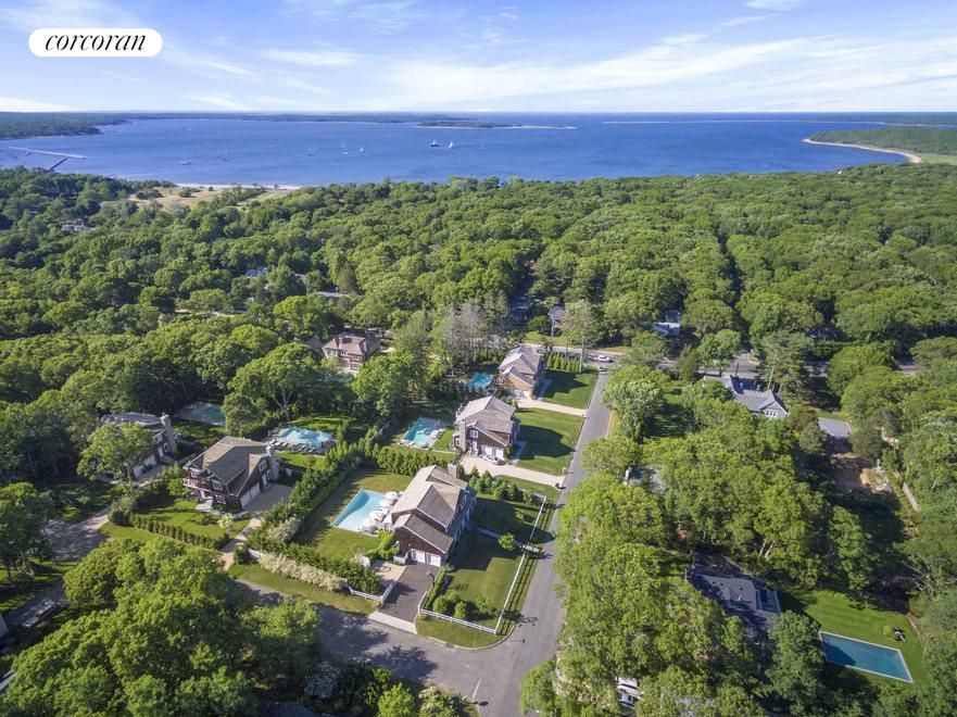 Just down the hill is beautiful Havens beach, and Sag Harbor Village!