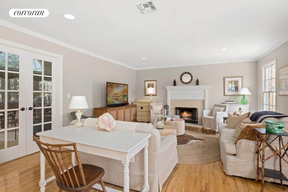 7 Rawson Road, Great room with fireplace