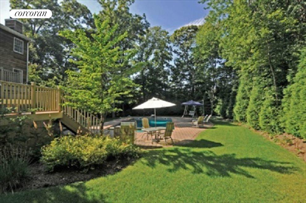 Fully landscaped for privacy