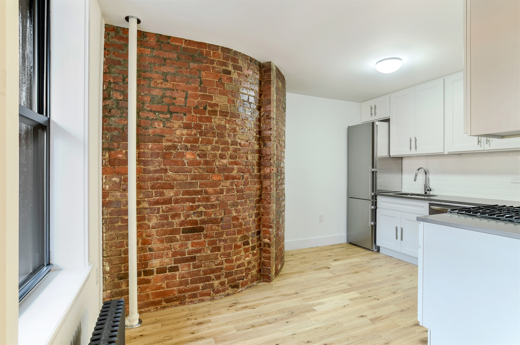 140 Warren Street, 3B, Living & Dining (Virtually Staged)
