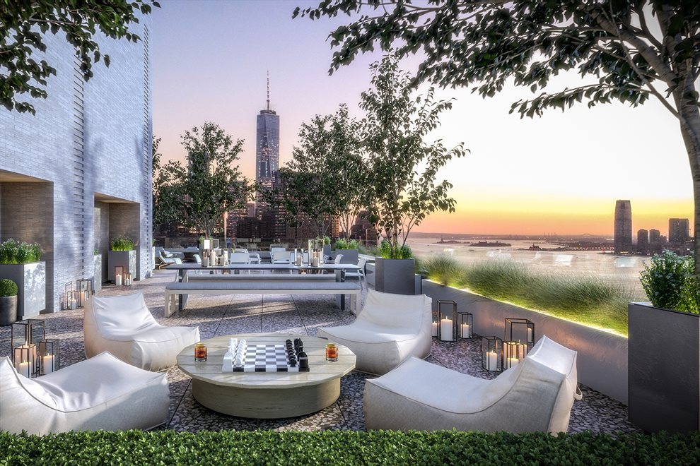 New York City Real Estate | View 110 CHARLTON ST, #26E | Landscaped and Furnished Common Roof Terrace