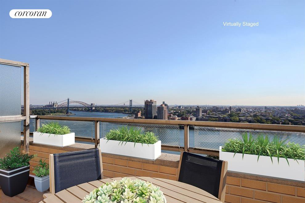New York City Real Estate | View 180 East End Avenue, #PHG | Two private terraces