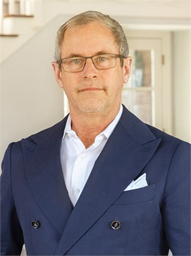 Peter Huffine, a top realtor in The Hamptons for Corcoran, a real estate firm in Bridgehampton.