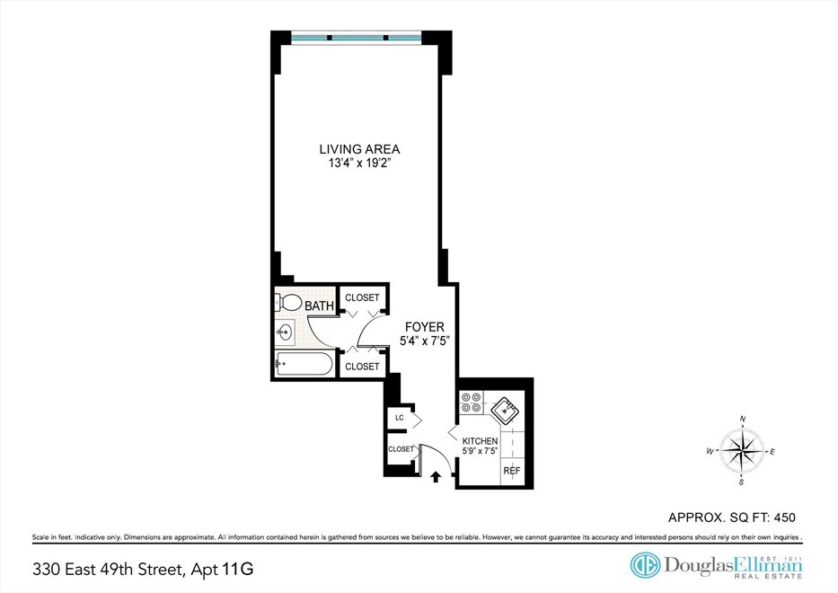 New York City Real Estate | View East 49th Street | Floorplan