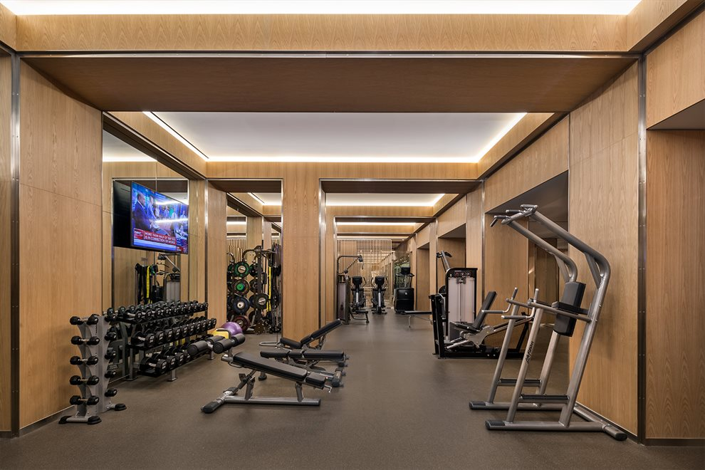 New York City Real Estate | View 70 VESTRY ST, #3F | Fitness Center Designed by The Wright Fit