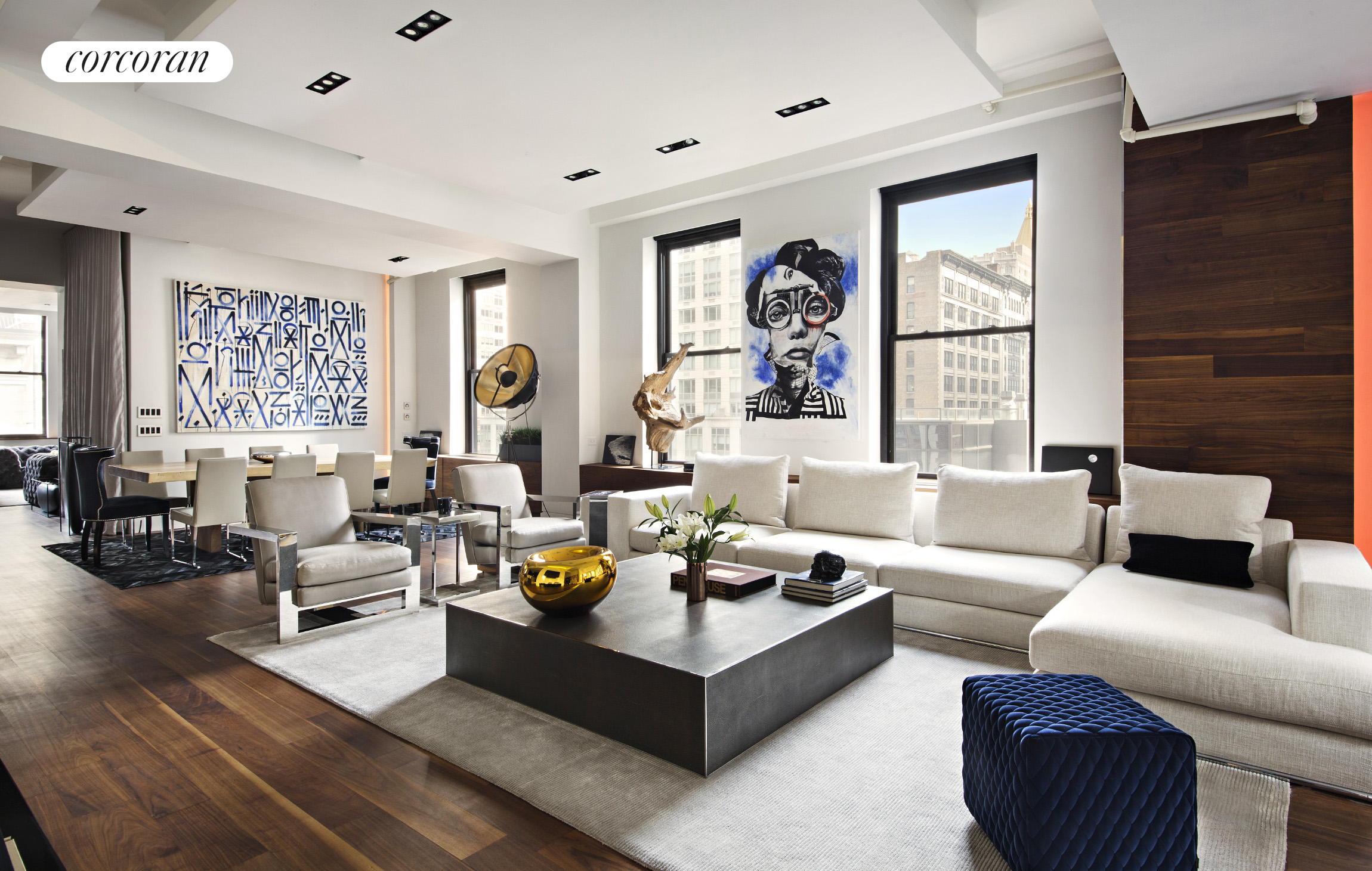 110 West 25th Street, 6 FL, Living Room