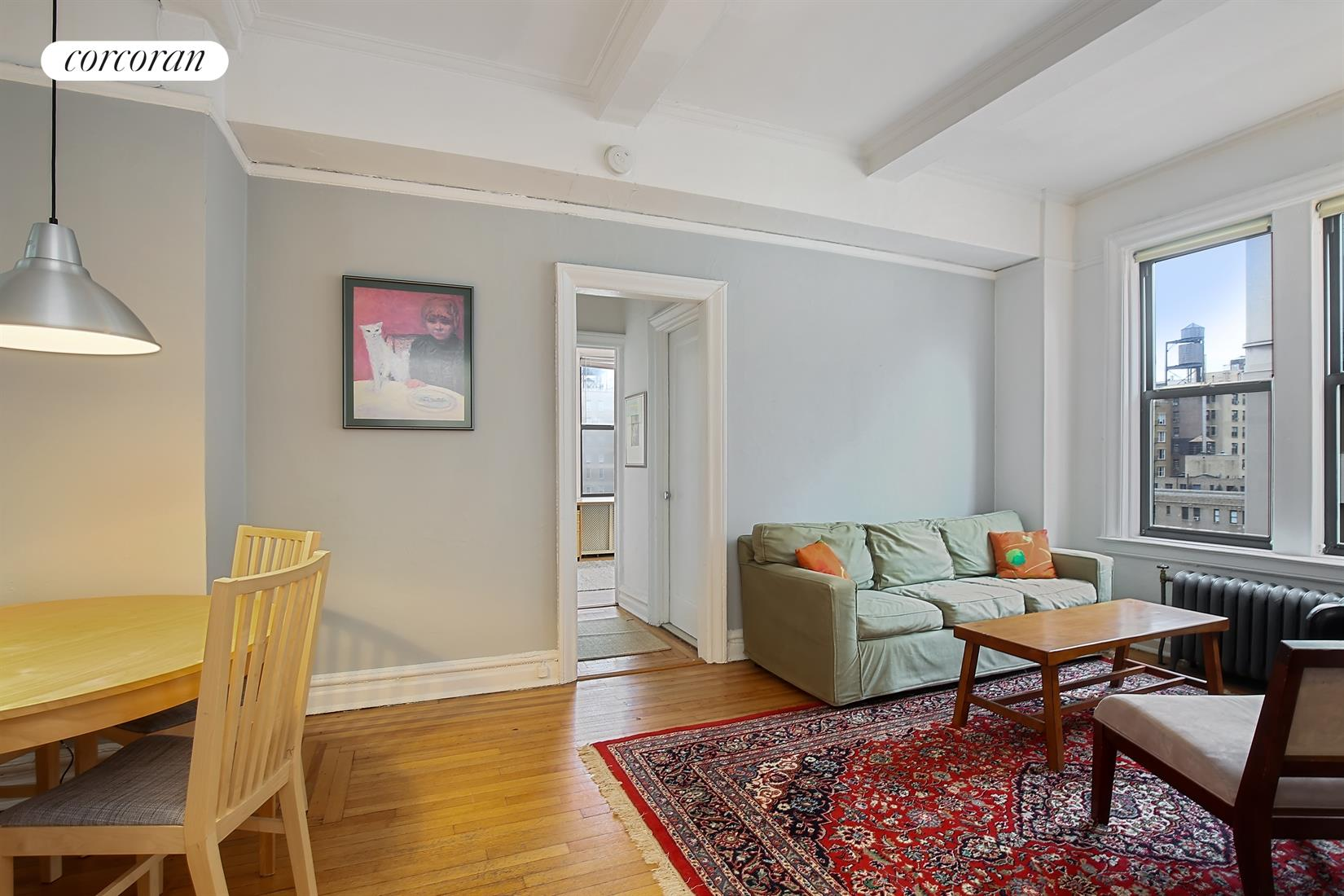 599 West End Avenue, 11B, Living/Dining Room with North and South Exposures