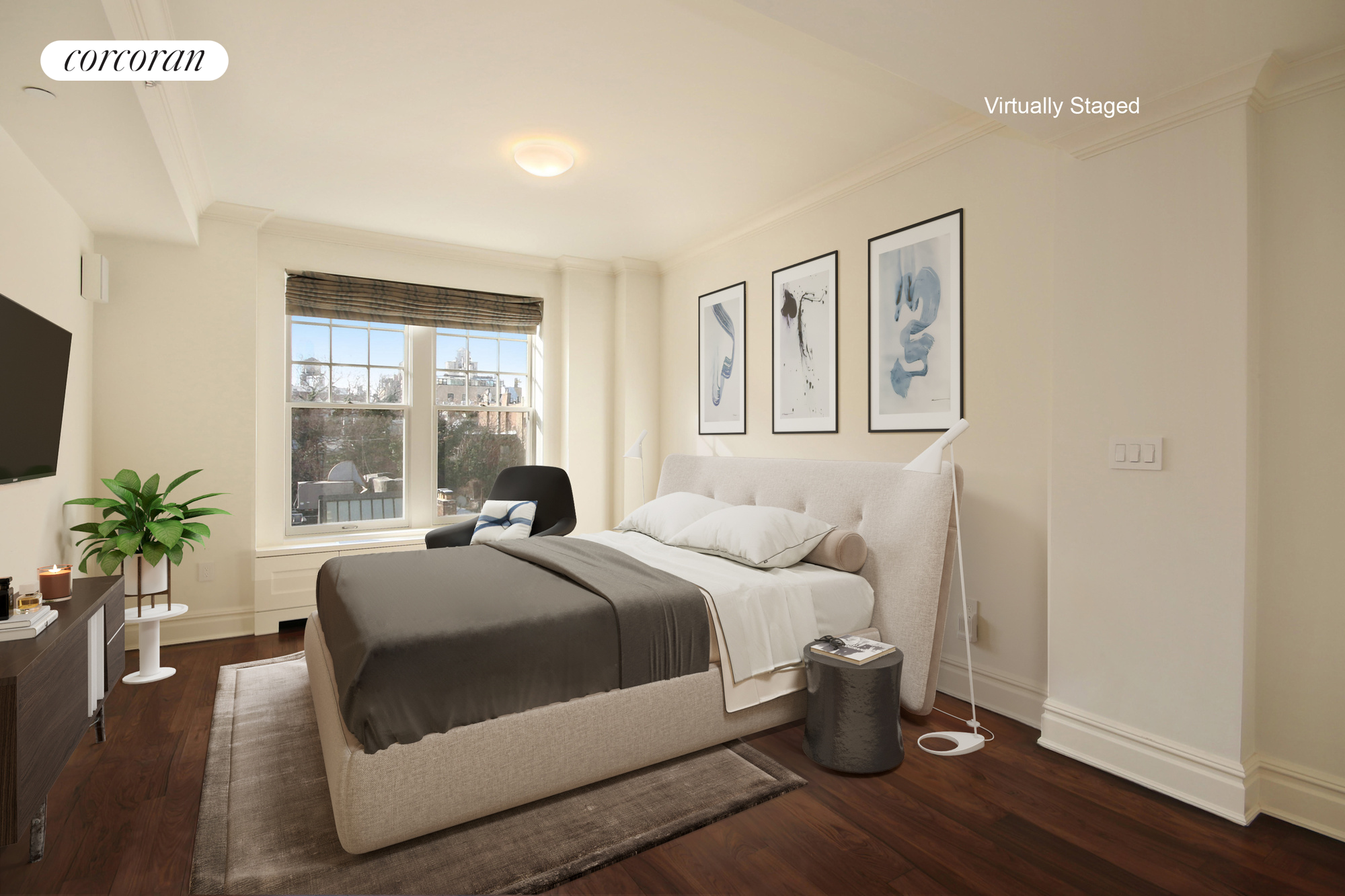 31 West 11th Street, 5A, Bright Living / Dining Room w/ Large Bay Windows